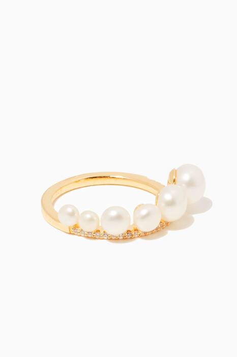 Yellow-Gold Plated Pearl Ring