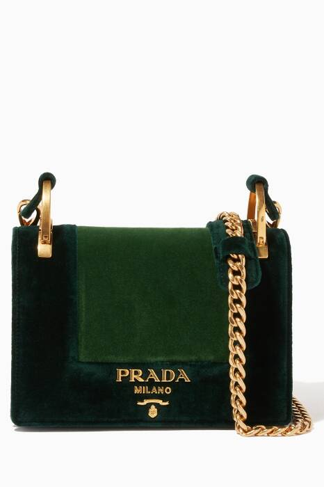 Green Small Velvet Shoulder Bag