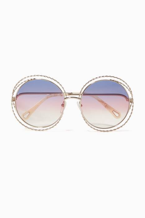 Pink Carlina Oversized Round Sunglasses