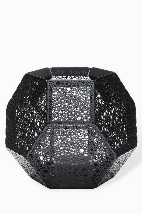 Black Etch Tea Light Holder