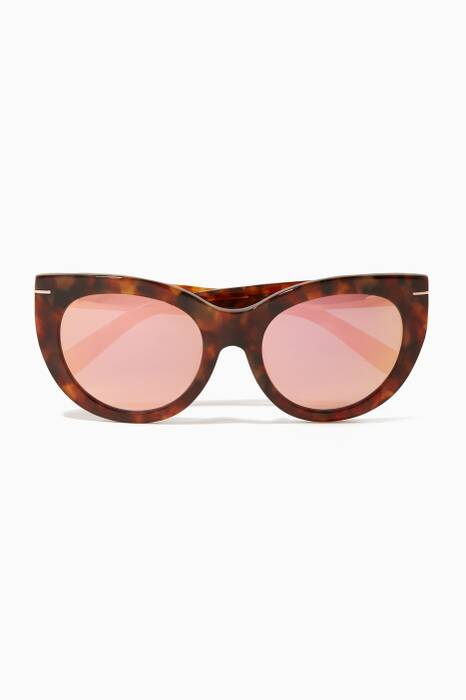 Tortoise Cat-Eye Runway Sunglasses