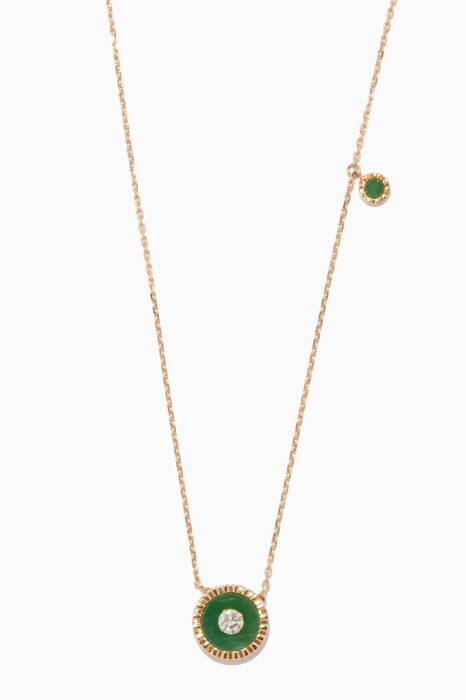 Yellow-Gold, Diamond And Green Jade Necklace