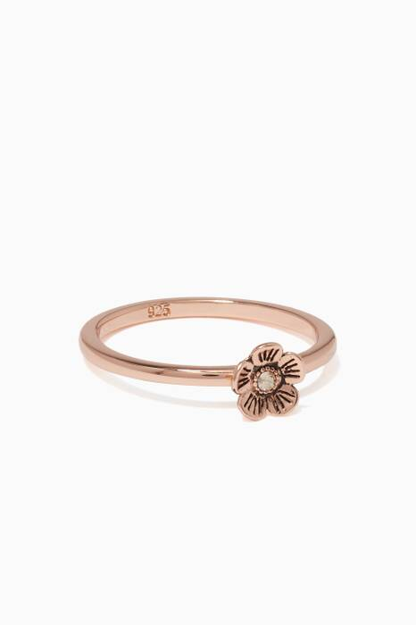 Rose-Gold Mini Tea Rose Ring