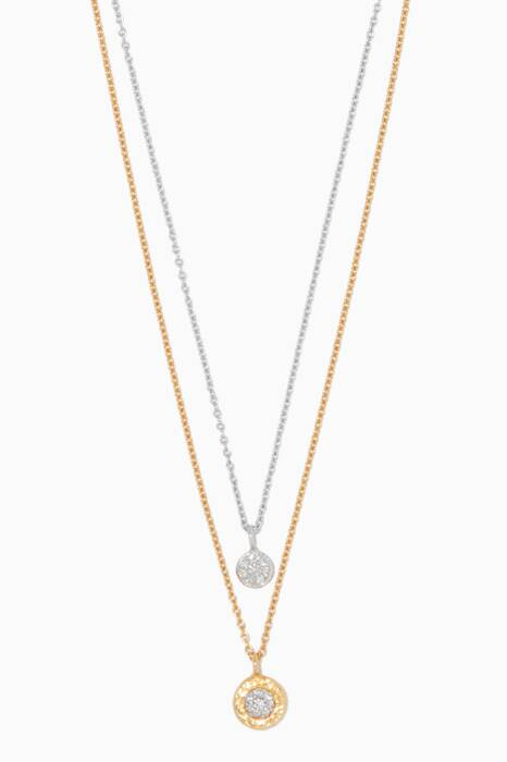 Gold & White-Gold Double-Strand Delicate Necklace