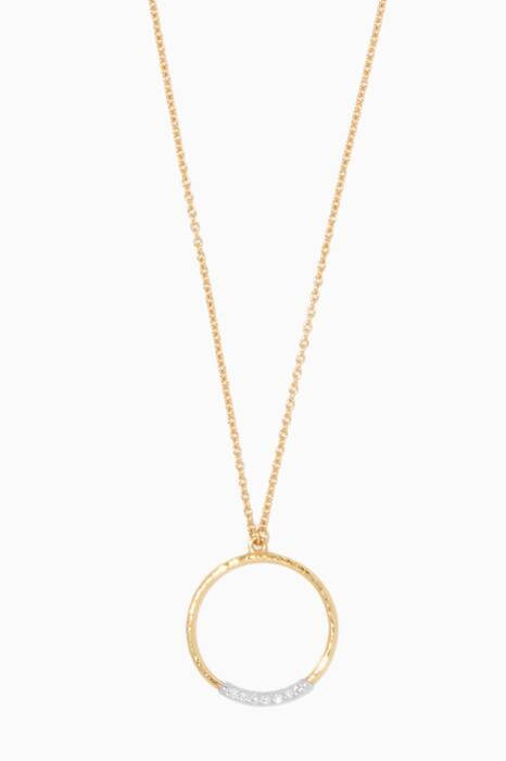 Gold Delicate Geo Pendant Necklace