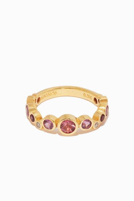 Gold Multi-Stone Pointelle Ring