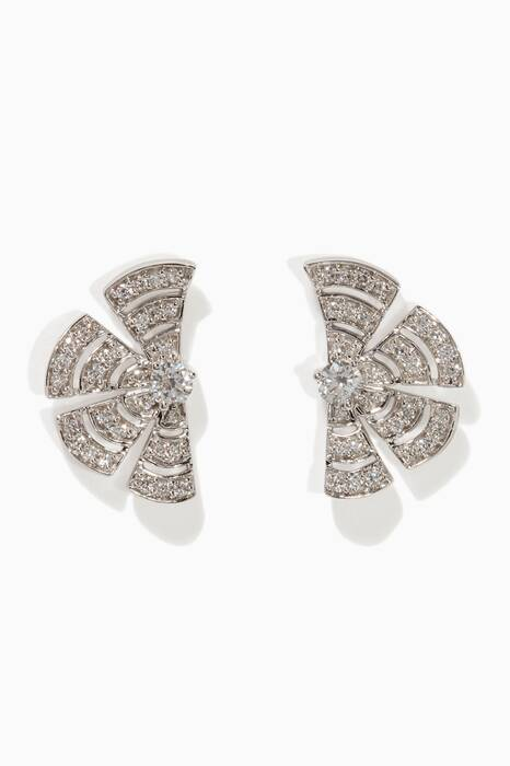 White-Gold & Diamond Labyrinth Earrings