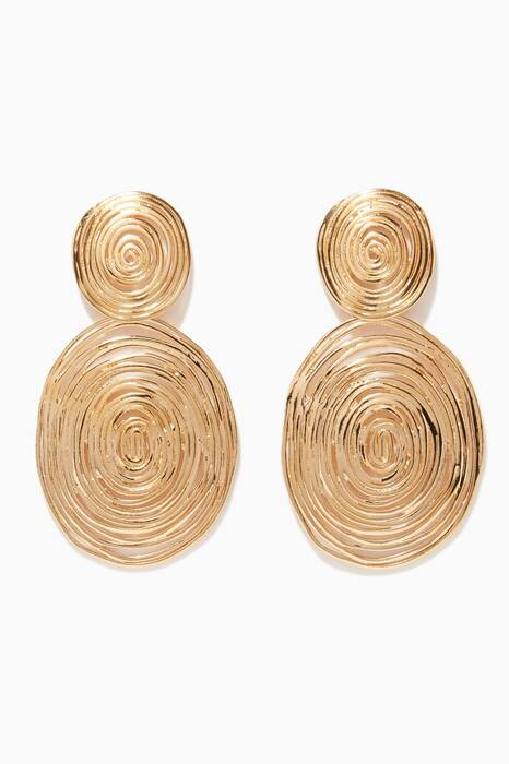 Gold Wave Earrings