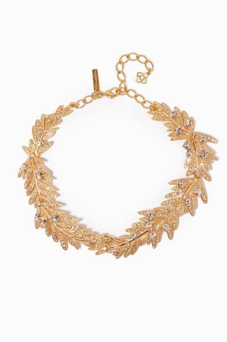 Gold Tropical Palm Necklace