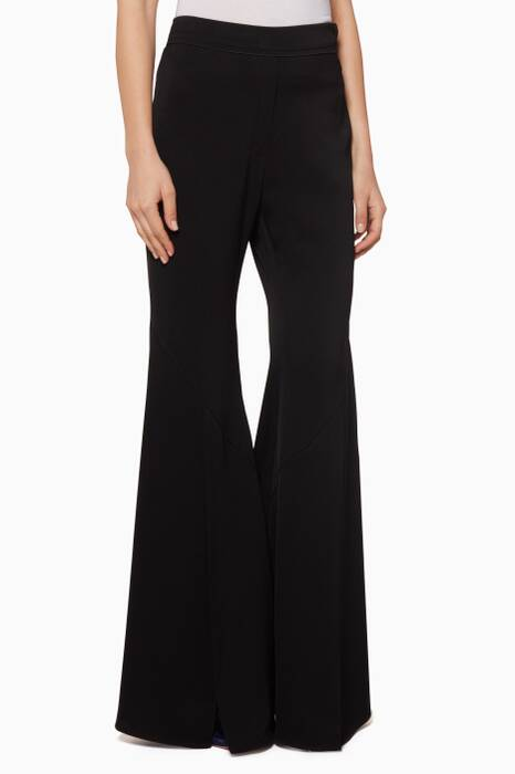 Black Higher & Higher Flared Pants