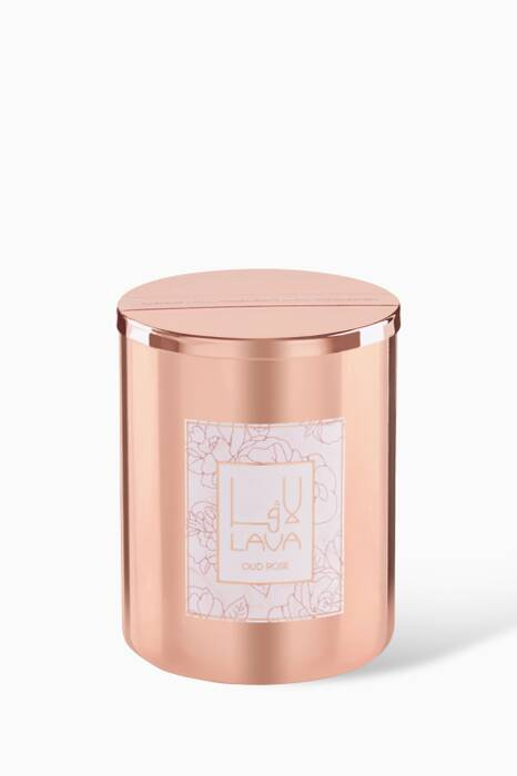 Oud Rose Metal Container Candle, 330g