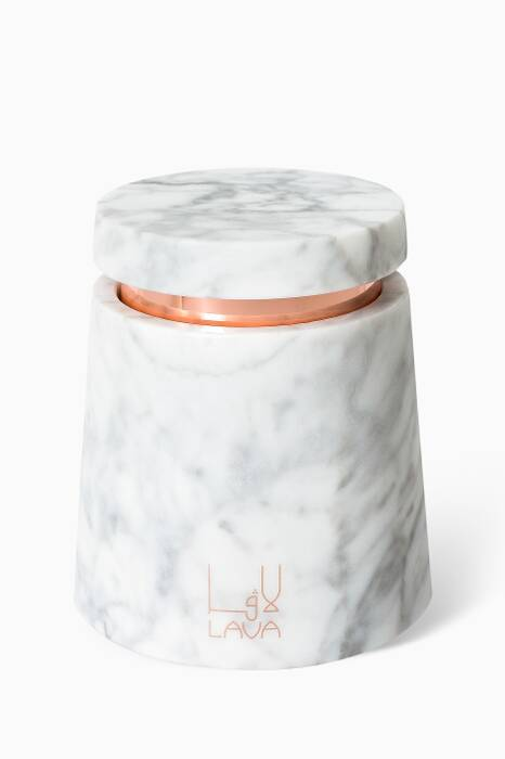 Oud Rose Marble Candle