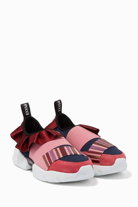 Metallic-Pink City One Sneakers