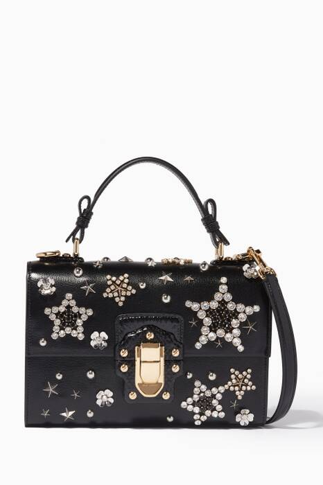 Black Star-Embellished Lucia Shoulder Bag
