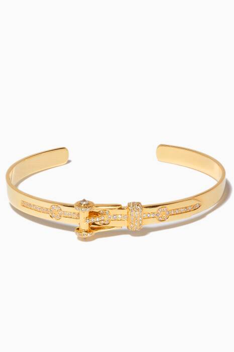 Yellow-Gold & Diamond Belt Cuff