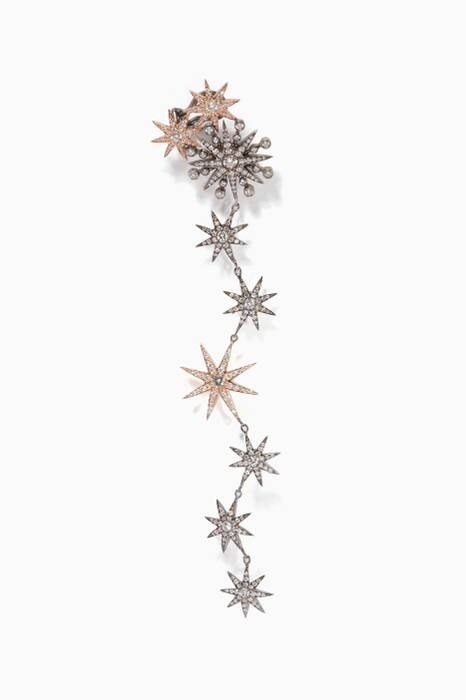 Rose-Gold & Diamond Pixie Duster Ear cuff