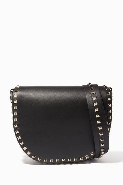 Black Rockstud Saddle Bag