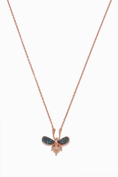 Rose-Gold & Diamond Honey Bee Necklace