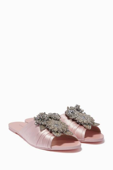 Baby-Pink Crystal Lilico Slides