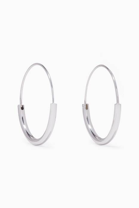 Silver Serendipity Hoop Earrings