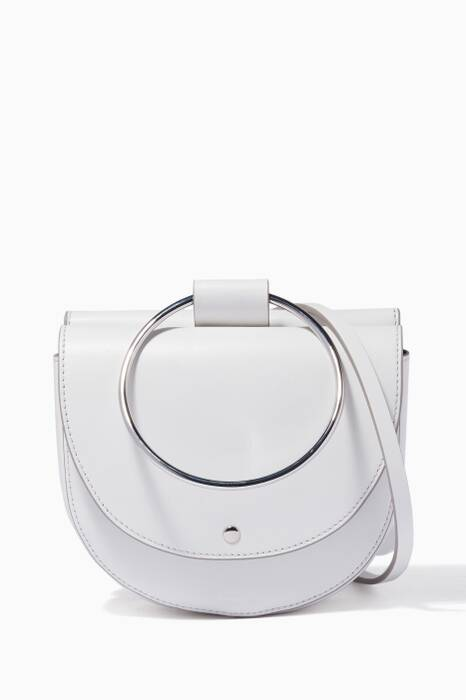 White Whitney 2.0 Hoop Leather Bag