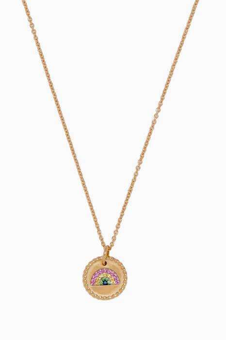 Yellow-Gold & Sapphire Rainbow Necklace