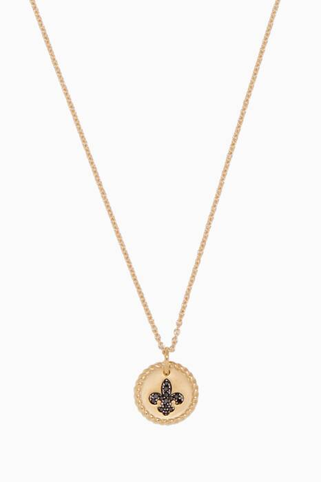 Yellow-Gold & Fleur de Lis Necklace