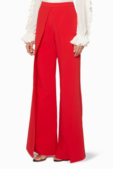 White Wide-Leg Tonya Pants