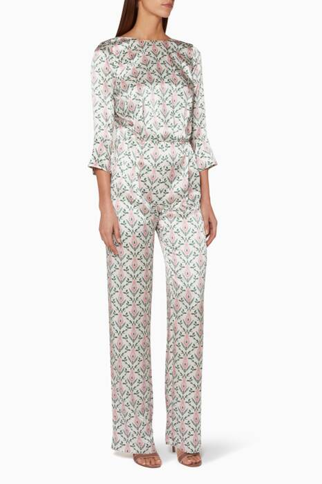 White Printed Gee Jumpsuit