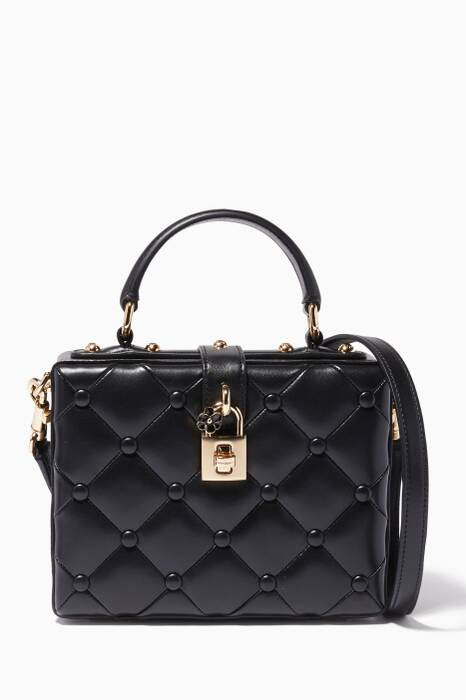 Black Quilted Nappa Dolce Box Bag