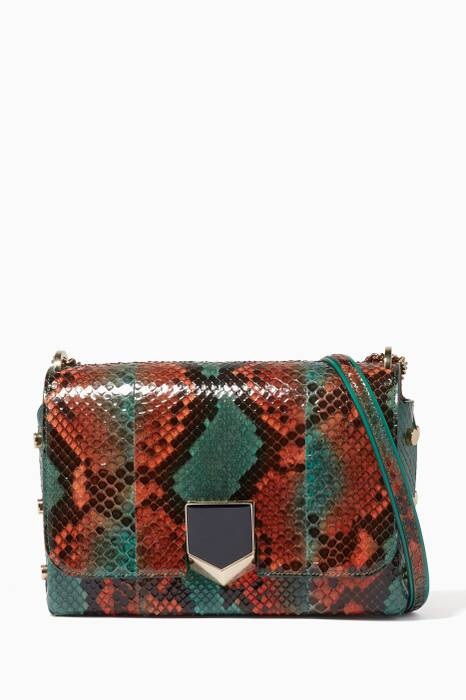 Green Lockett Python Shoulder Bag