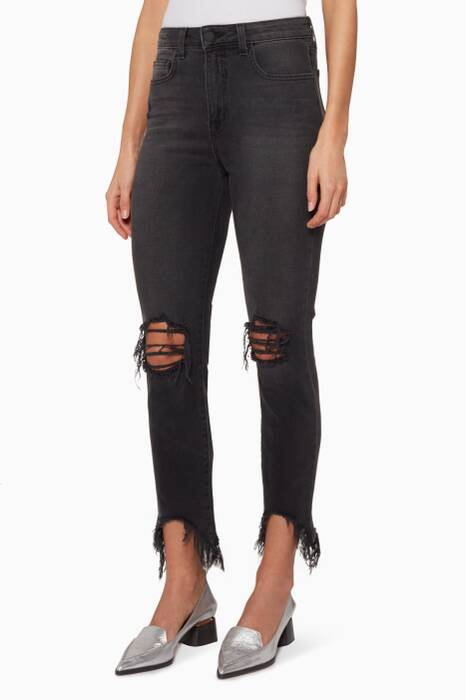 Black High Line Skinny Jeans