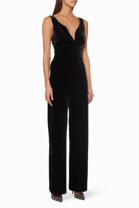 Black Velvet Savanna Jumpsuit