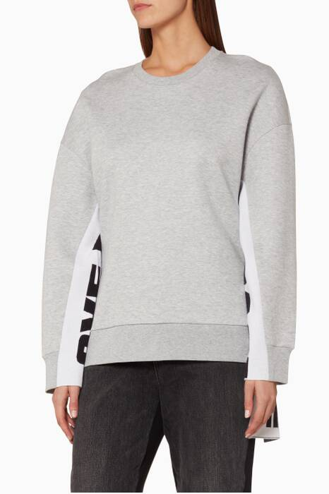 Grey All Is Love Oversized Sweatshirt