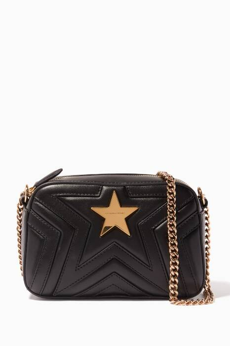 Black Mini Stella Star Quilted Cross-Body Bag