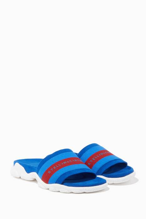 Blue Striped Slides