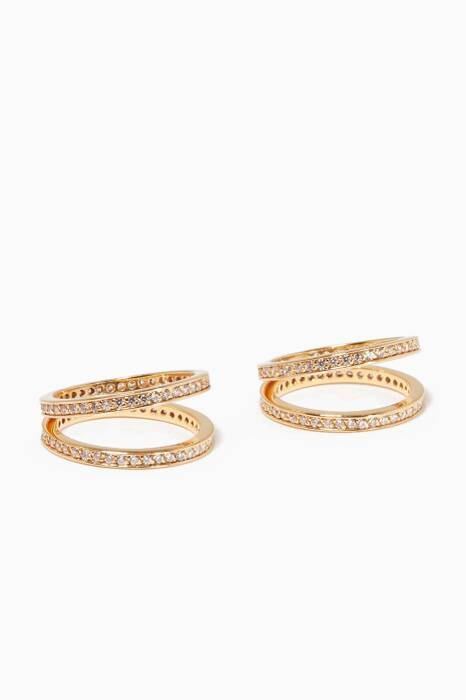 Gold Set Of Two Criss Cross Rings