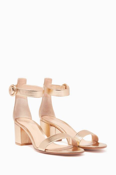Metallic Gold Versilia Leather Sandals