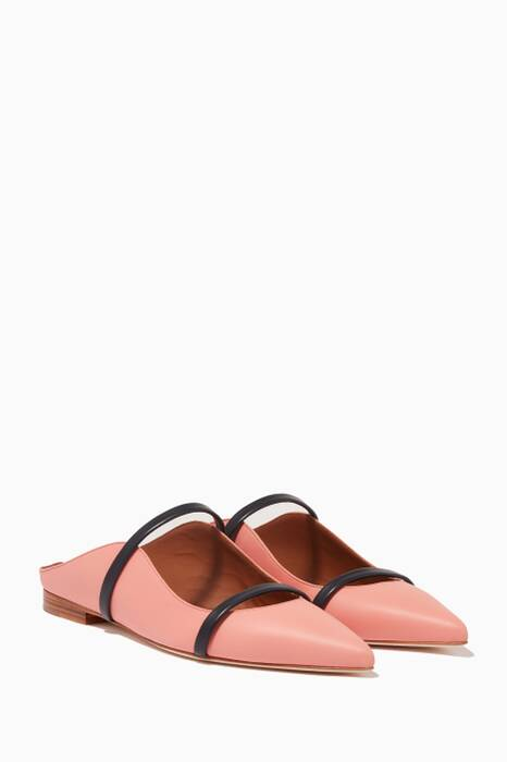 Pink Maureen Leather Flats