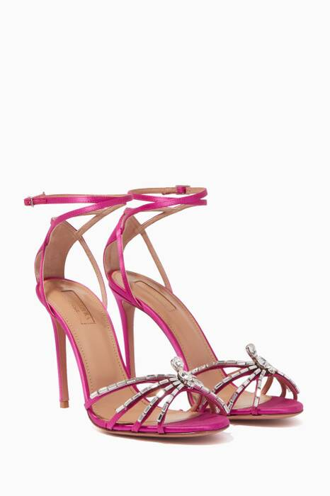 Pink Crystal Spider Sandals