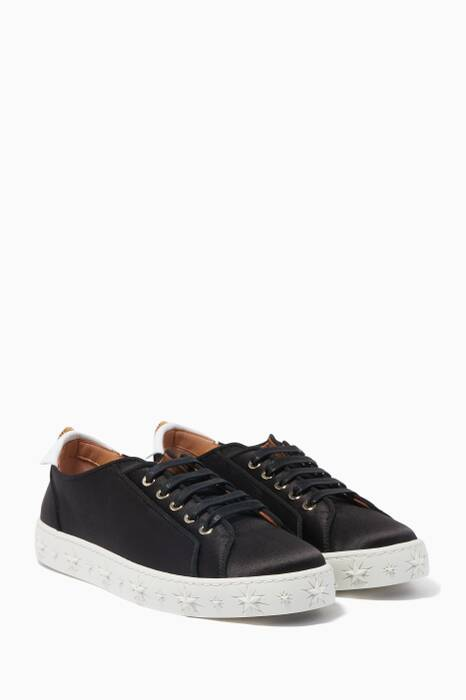 Black Satin L.A. Sneakers
