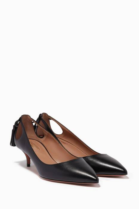 Black Forever Marilyn Leather Pumps