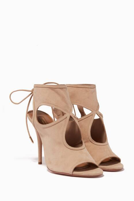 Beige Sexy Thing Peep-Toe Sandals