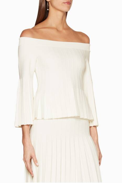 White Off-The-Shoulder Compact Top