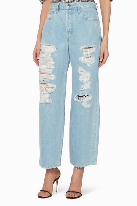 Denim Classic Distressed Nana Jeans