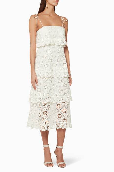 Ivory Lumino Daisy Tier Dress