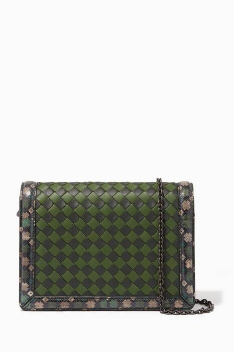 Green Mini Montebello Leather Clutch