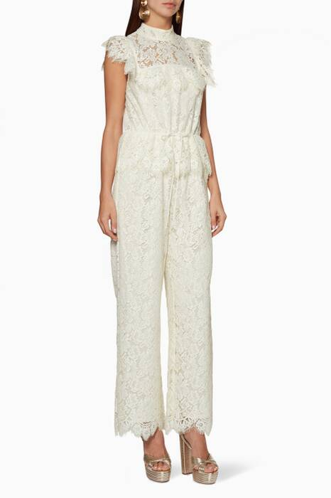 White Jerome Lace Jumpsuit