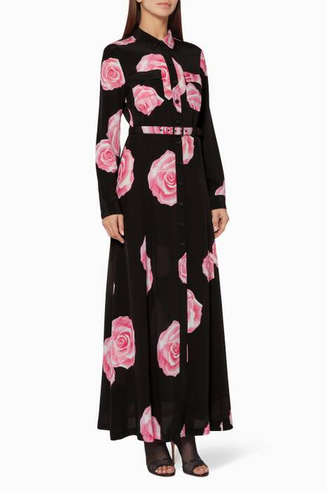 Black Fayette Silk Maxi Dress