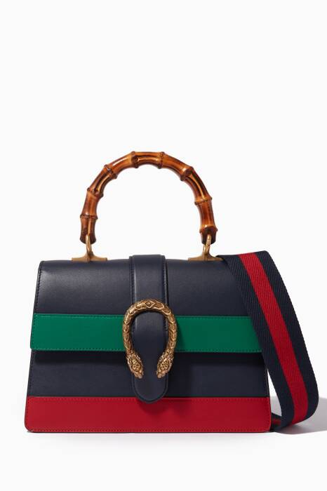 Multi-coloured Dionysus Bamboo Top Handle Bag